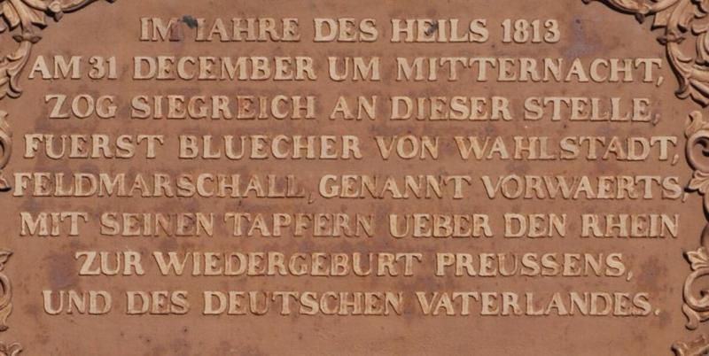 Blücher Gedenkstein in Kaub am Rhein