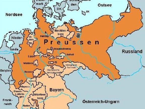 Preussen Karte von 1871