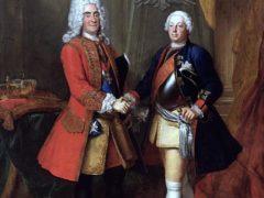 Friedrich Wilhelm und Karl IV. beim Vertragsabschluss 1726