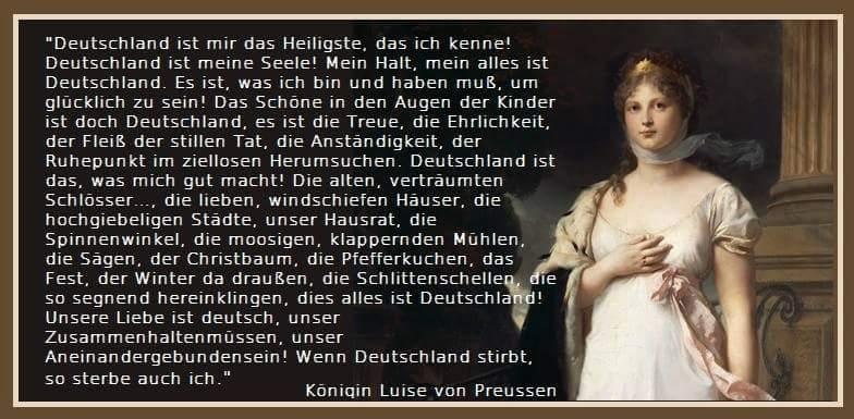 Zitat der Königin Luise von Preussen