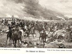 Blücher in der Schlacht von Möckern