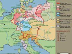 Karte Deutschlands nach dem Wiener Kongress