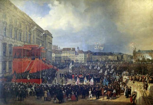 Erbhuldigung Ffriedrich Wilhelm IV. in Berlin