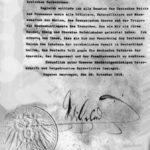 Abdankungsurkunde Kaiser Wilhelm II. 1918