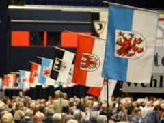 Beflaggung des Ostpreussen Landestreffen Rostock 2018