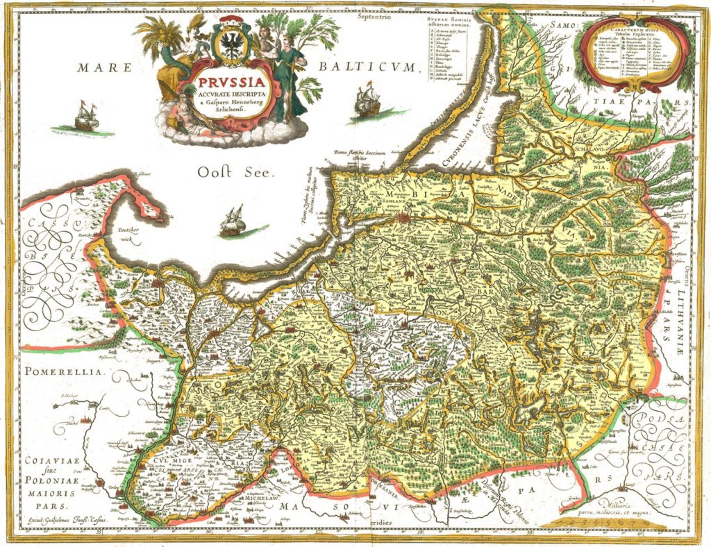 Preußen, wie es 1656 für immer von Polen abgetreten wurde