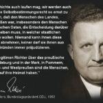 Zitat Hermann Ehlers CDU zum Selbstbestimmungsrecht der Preußen