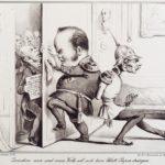 Karikatur zum Verfassungskampf in Preußen