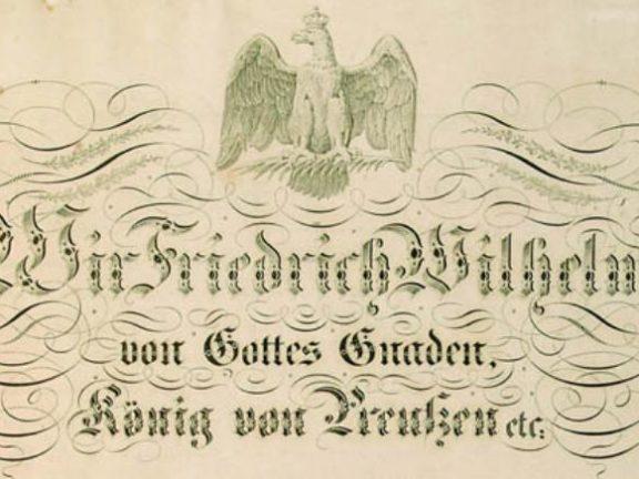 Friedrich Wilhelm von Gottes Gnaden König von Gottes Gnaden