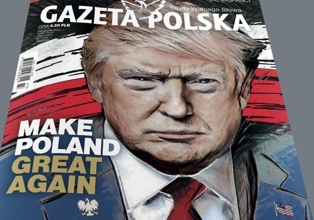 US-Präsident Trump Gazeta Polska Juli 2017