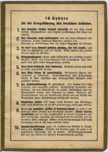 10 Gebote für die Kriegführung des deutschen Soldaten