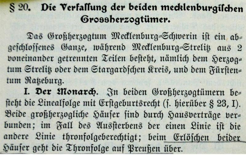 Verfassung der beiden Großherzogtümer Mecklenburgs