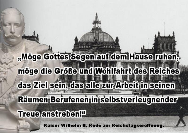 Kaiser Wilhelm II. zur Eröffnung des Reichstagsgebäudes