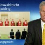 Tagesschau berichtet über das verfassungswidrige Wahlgesetz