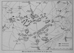 Schlachtplan von Belle Alliance