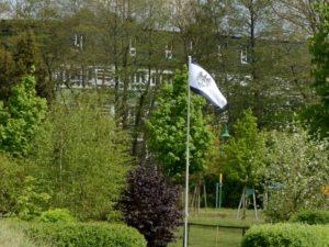 Der schwarze Adler weht in der Provinz Pommern