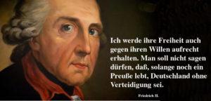Zitat Friedrich der Große: Freiheit, Preußen und Deutschland