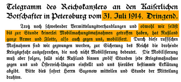 Telegram vom 31. Juli 1937